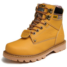 Купить с кэшбэком Martin boots men's English snow boots warm high help couple work boots cotton boots thickened cotton shoes women winterYasiliaya