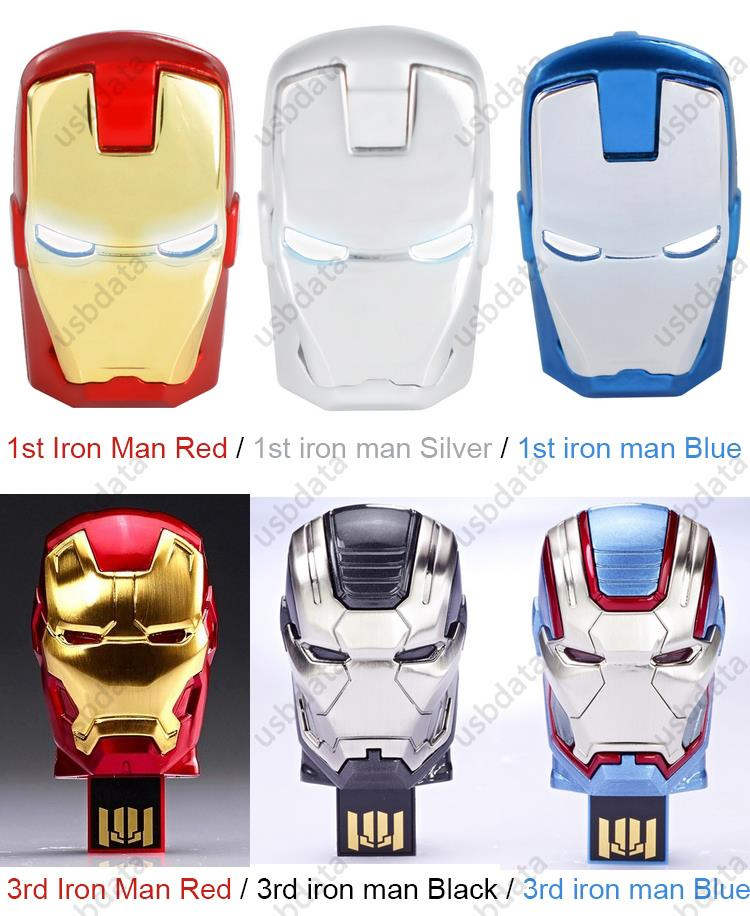 NEW Avengers Iron Man Hand LED Flash Drive 64GB USB 2 0 Memory Stick Flash Card 128GB 1TB 2TB Pendrive 512 GB Pen Drive Gift Key in USB Flash Drives from Computer Office