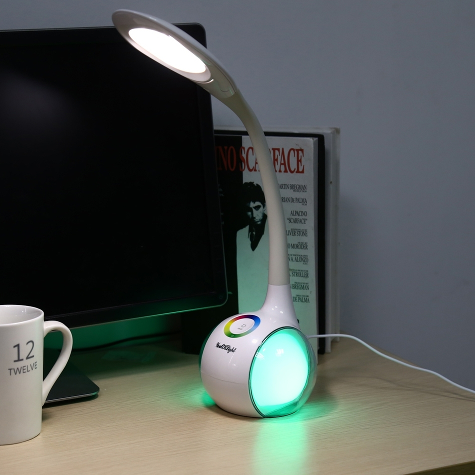 Creative Eye-protection LED Desk Lamp Light Touch Control 3 Dimmable Levels White Led Table Lamp High Quality Office Light