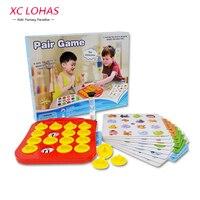 Children Memory Matching Game Pairs Game Educational Toys Baby Brain Training Montessori Interactive Desk Toys Christmas