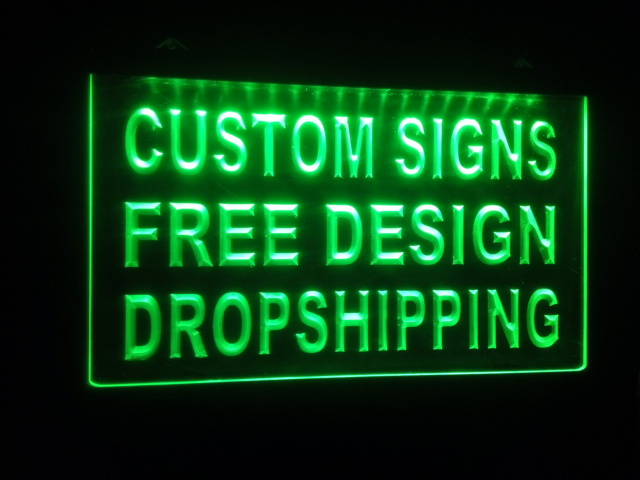 design your own Custom ADV LED Neon Light Sign Bar open