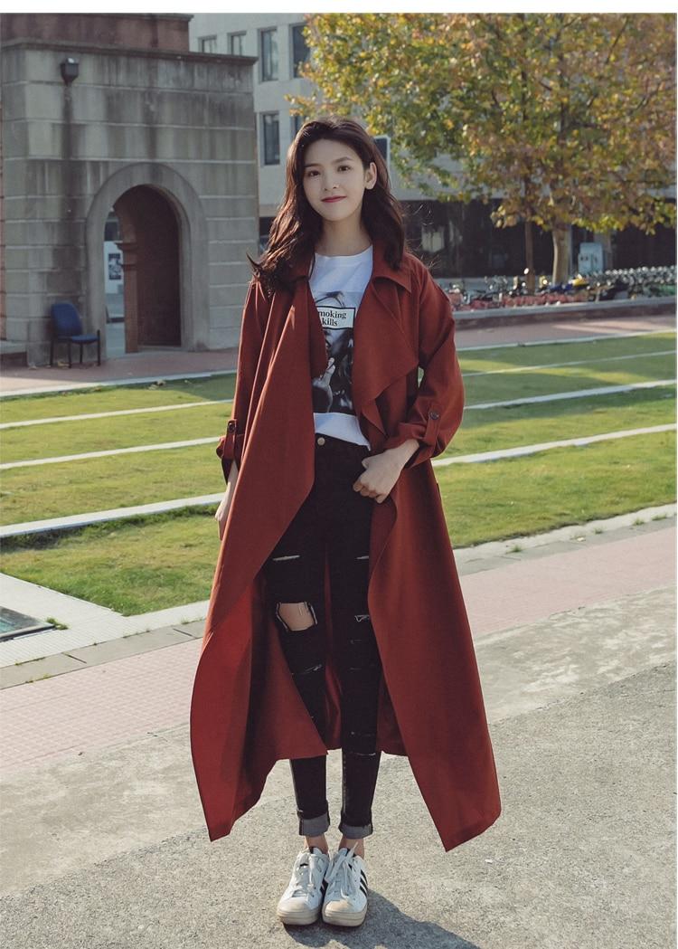 Colour Ajuster La Double Nouveau Mince Chaude Mode Marque Tranchée Vent Longue Couleur Section Coréen De Caramel Ceinture Breasted Pardessus Vente 2018 B606 35jc4ARLq