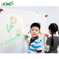 Kids Erasable Writing Boards Flexible Magnetic Labels With Gloss White Dry Wipe Surface Whiteboard 60 X