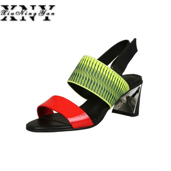 XIUNINGYAN Women Sandals Strange High Heel Summer Gladiator Sandal Wedge Shoes Mixed Colors Woman Sexy Valentine Shoes Woman