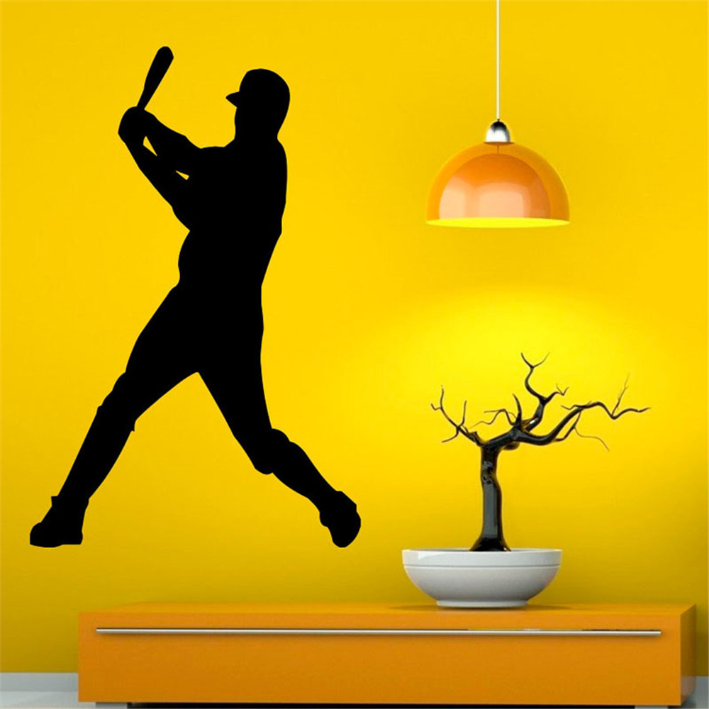 Fashion Design Sports Baseball Wall Stickers Removable Sticker Wall Decals Home Decor Room Decorations
