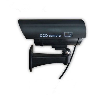 Fake Dummy Camera Outdoor Indoor Waterproof Security CCTV Surveillance Camera With LED light sliver black