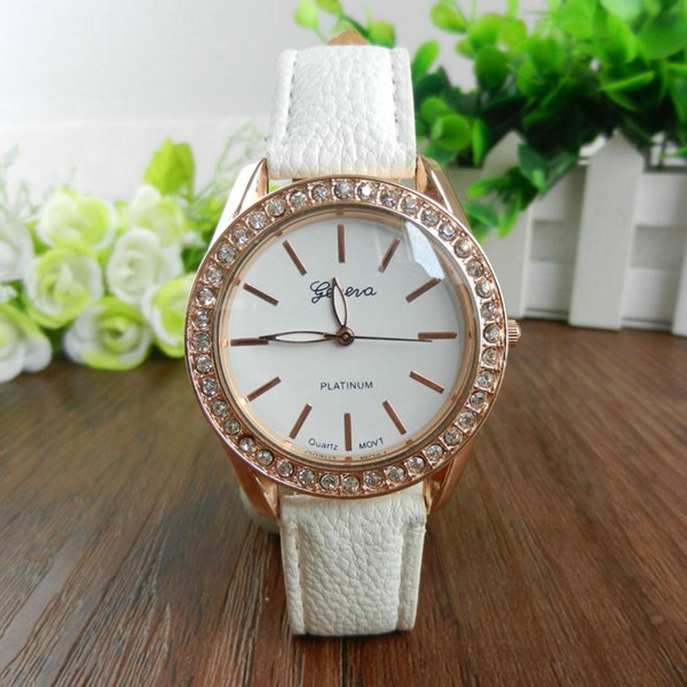 xiniu 2018 Geneva Brand Quartz Watch Women Ladies PU Leather Rhinestone Dress Wristwatches Clocks Watch Relogio reloj mujer vintage rhinestone geometric pu leather watch