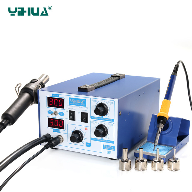 цена на YIHUA 872D+ Soldering Iron Holder Hot Air Station Repair Tool With Soldering Iron Station