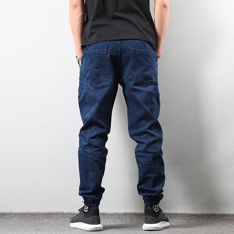 8b281c906e Estilo japonés Joggers pantalones vaqueros pantalones hombres negro ...