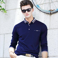 Ex-Factory Price Solid Polo Men Shirt Business Casual Male Shirt Polo Long Sleeve Breathable Cotton Polo Shirts Oversize Design