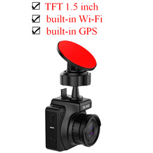 Dual camera Full HD 1920P 145 Degree Wide Angle  GPS tracker car black box dash cam
