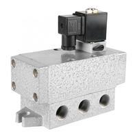 Solenoid Valve Two Position Five Way Pneumatic Solenoid Valve PT 1/2 DN15 Directional Valve Electric Magnetic Ball Valves