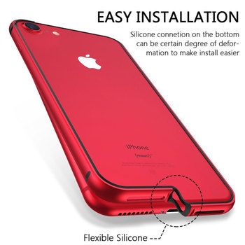 Flexible Silicone Aluminum Bumper Case For iPhone XS Max XR XS Luxury Hard Metal Frame Soft Rubber Side shockproof Bumper 1