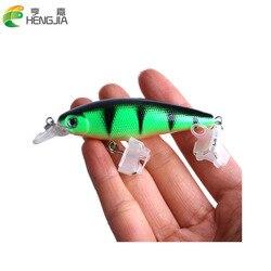 HENGJIA 1pc fishing lure Minnow Hard Bait 9cm 8g 5 differernt colors lifelike 3D eyes Bass Crap fishing Trout