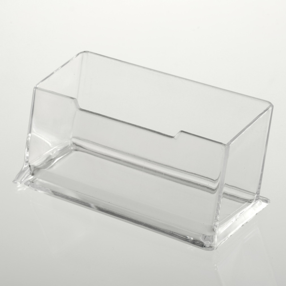 buy 1pcs display stand acrylic plastic new clear desktop business card holder desk shelf box storage hot worldwide sale from reliable - Business Card Holder Desk
