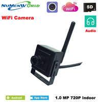 ミニワイヤレス IP カム 720 1080P SD HD P2P 802.11b/g/n の無線 lan ネットワーク IP カメラマイクロ TF カード監視カメラオーディオ IOS & Android アプリ