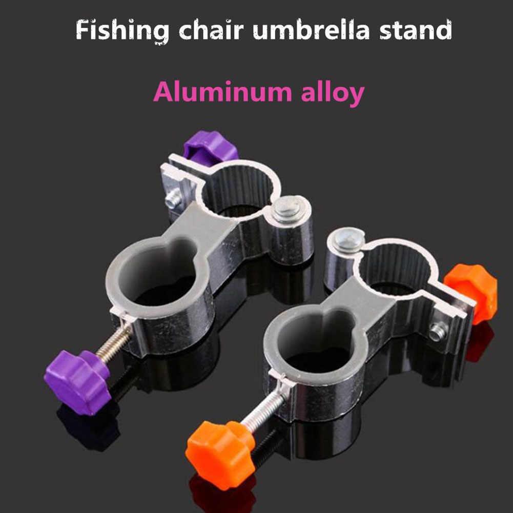 Fácil de Instalar Suportes de Cadeira De Pesca Guarda-chuva Braçadeira Estande Titular Dobrável Clipe Ferramentas Ao Ar Livre Montar Liga De Alumínio Fixo