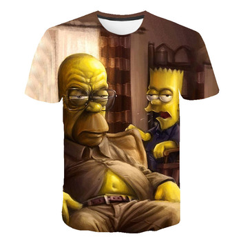 Latest 2021 Simpsons Summer T-shirt  1