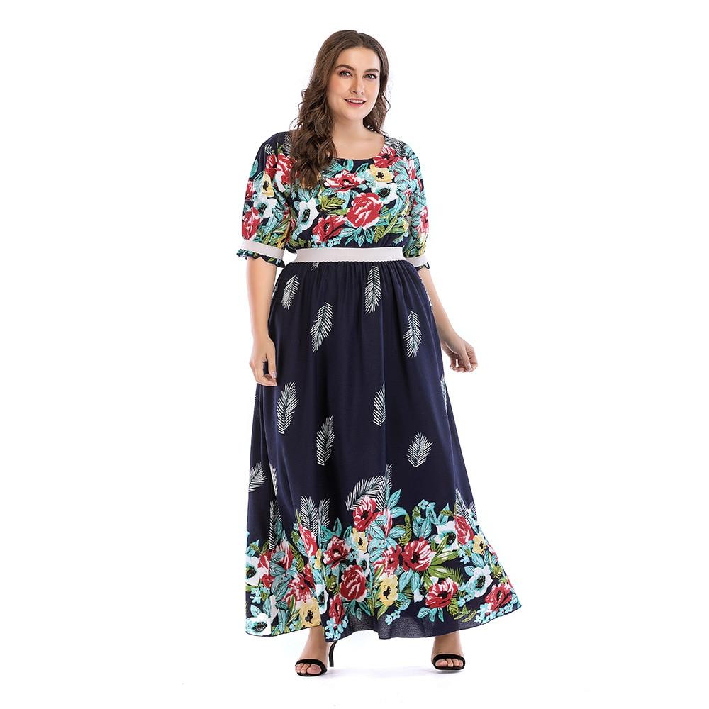 XL XXXXL 5XL Plus Size Summer Dress 2018 Women Short