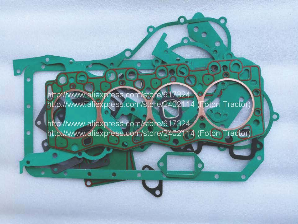 Changchai 4L50B parts, set of gasket kit including the cylinder head gasket, part number: changchai zn485t for tractor use the set of gaskets including the head gasket as showed