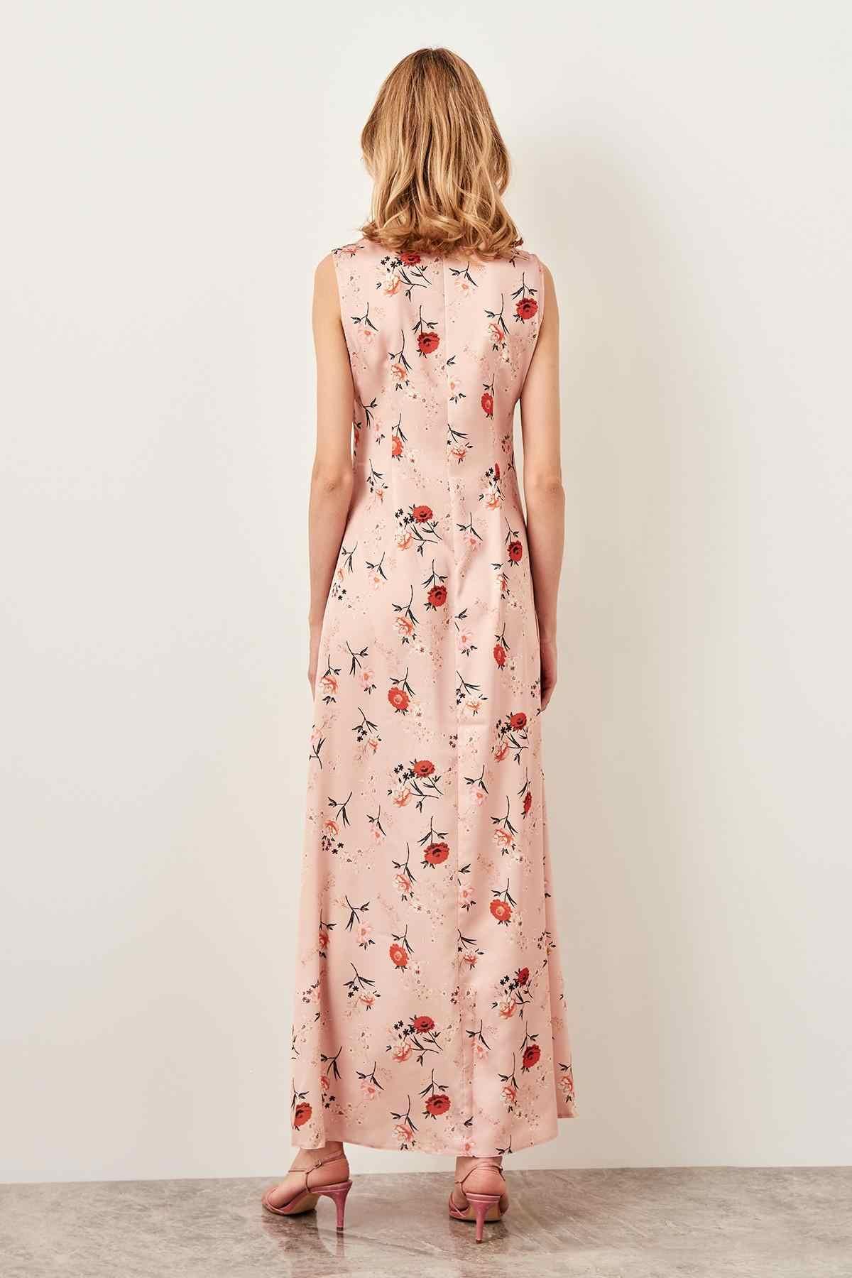 Платье с кисточками и порошковым узором TOFSS18BB0333