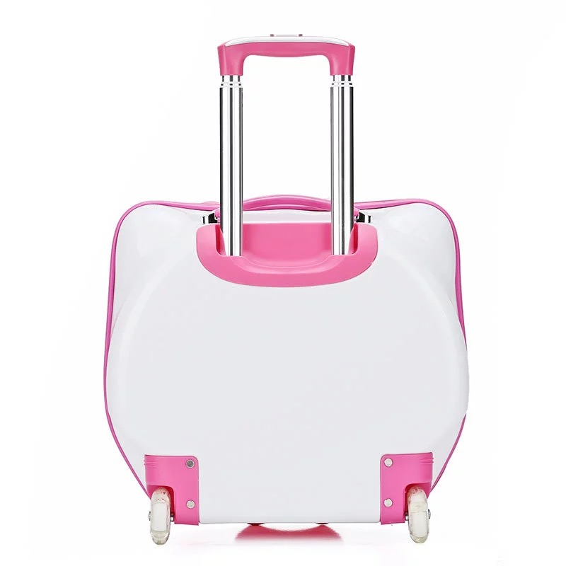 De pink Rose fixed Garçons Portent Roulettes fixed Sur Casters Bonjour Avec Valise Sac À Casters fixed Bagages Serrure Cas Filles rose Boîte Pink Roues red Voyage Enfants spinner spinner red Casters Chariot spinner Kitty rose Swv6CYYq
