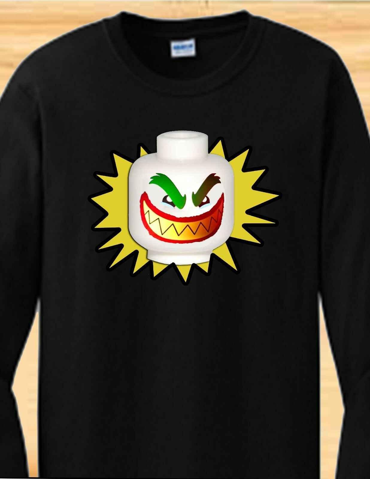 LEGO Бэтмен фильм Джокер-взрослый, ребенок, рубашка для малышей-короткий или длинный рукав