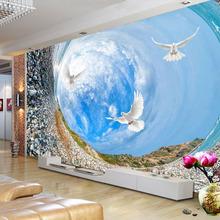 Dostosowany rozmiar Vortex niebieski niebo ptaki krajobraz Mural 3D stereoskopowe tapety do TV do salonu Sofa tapeta dekoracyjna tanie tanio jiadou CN (pochodzenie) Usd Rolka Z włókien drzewnych tapety Słomy Nowoczesne Tekstylne tapety Włókniny Elders pokoju