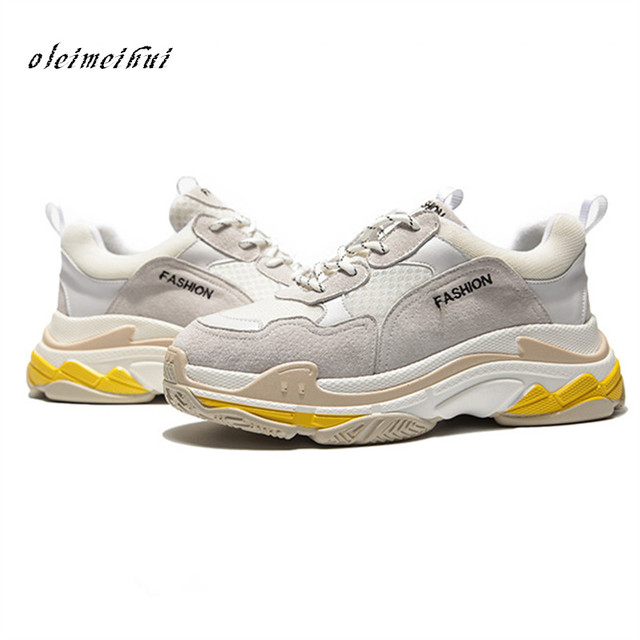 2018 Circle Spring Women Sneakers Genuine Leather Shoes For Women Fashion Lace-up Flat Platform Shoes Mixed Colors Casual Shoes