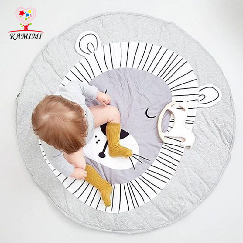 <font><b>Baby</b></font> <font><b>Blanket</b></font> Cartoon Lion Printed Game Mat KAMIMI Kids Crawling Carpet <font><b>baby</b></font> Bedding Stroller <font><b>Blanket</b></font> Children