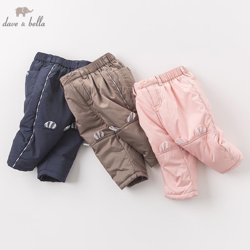DB6203 Dave Bella Winter Unisex Baby Boys Girls Full Length Kids Fashion Pants Children Padded Trousers