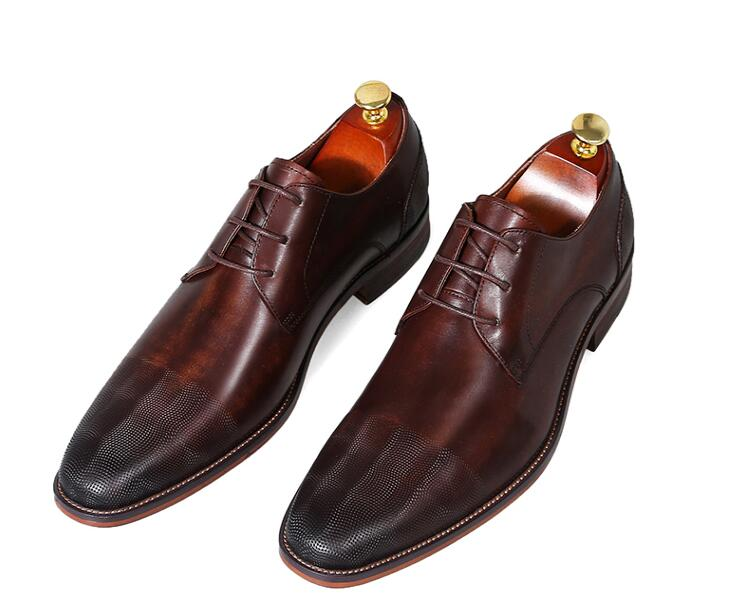 Dress Shoes Men Genuine Leather Lace Up