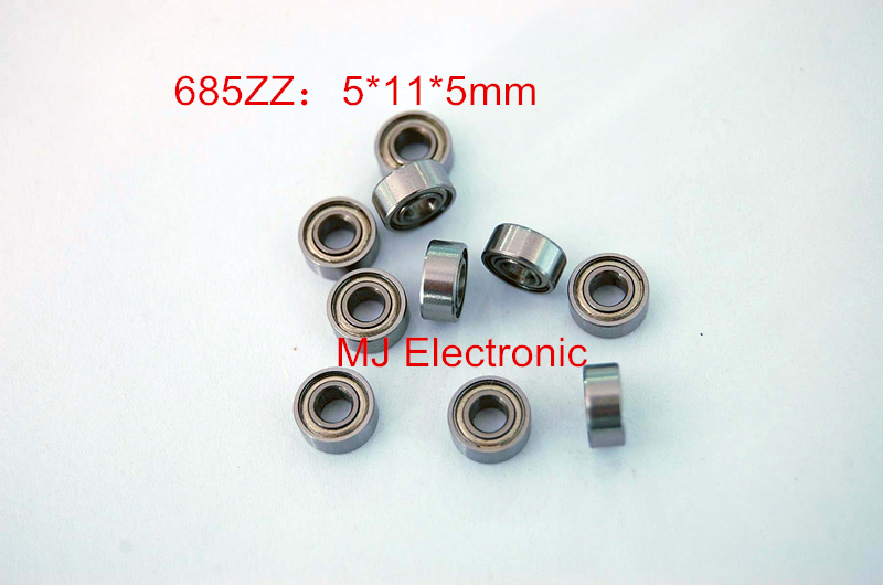685ZZ  bearings 10pcs metal Sealed Miniature Mini Bearing Free shipping 685 685Z 685ZZ 5*11*5mm chrome steel bearing