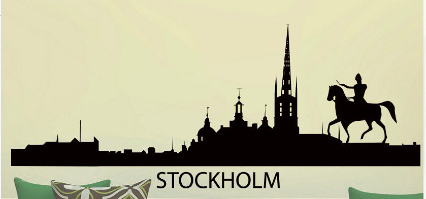 skyline vinyl wall sticker stockholm skyline city international skyline wall sticker wall stickers