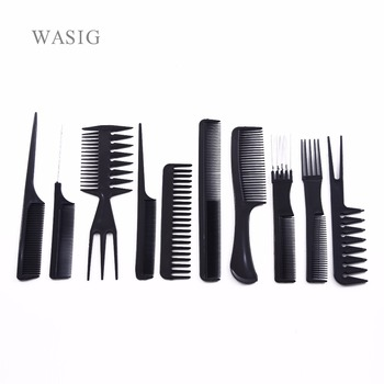 10 Pcs/Set Professional Hair Brush Comb Salon Barber Anti-static Hair Combs Hairbrush Hairdressing Combs Hair Care Styling Tools 1