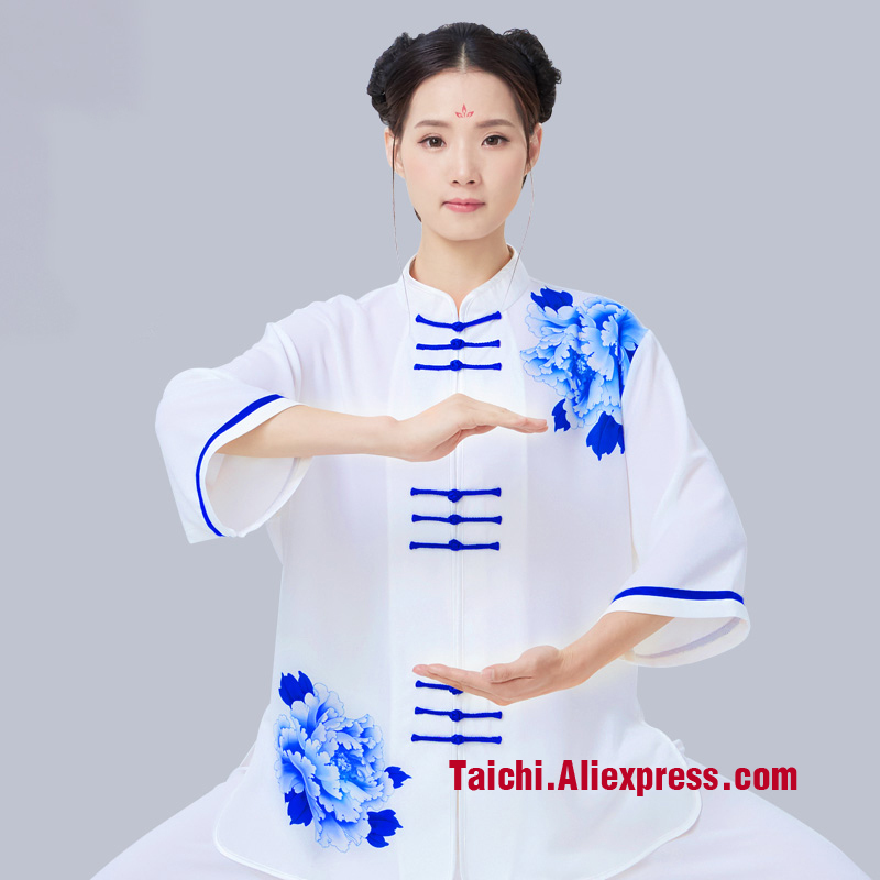 Printing Male Female Tai Chi Uniform Wushu Kung Fu martial art Suit  Performance Clothing Chinese style  acket Pants Printing Male Female Tai Chi Uniform Wushu Kung Fu martial art Suit  Performance Clothing Chinese style  acket Pants