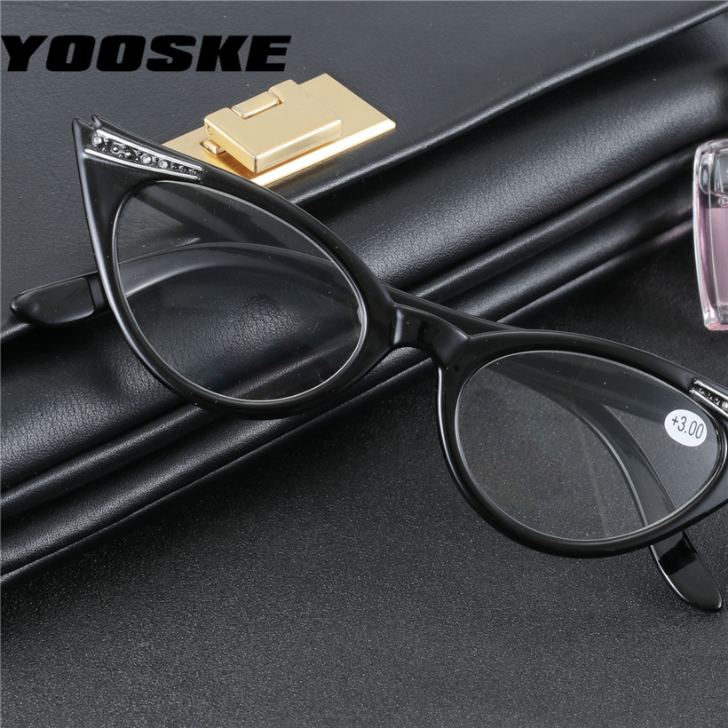 d0019c7711 Detail Feedback Questions about YOOSKE Fashion Cat Eye Reading Glasses Women  Retro Glasses for Reader 1.0 1.5 2.0 2.5 3.0 3.5 Diopter on Aliexpress.com  ...