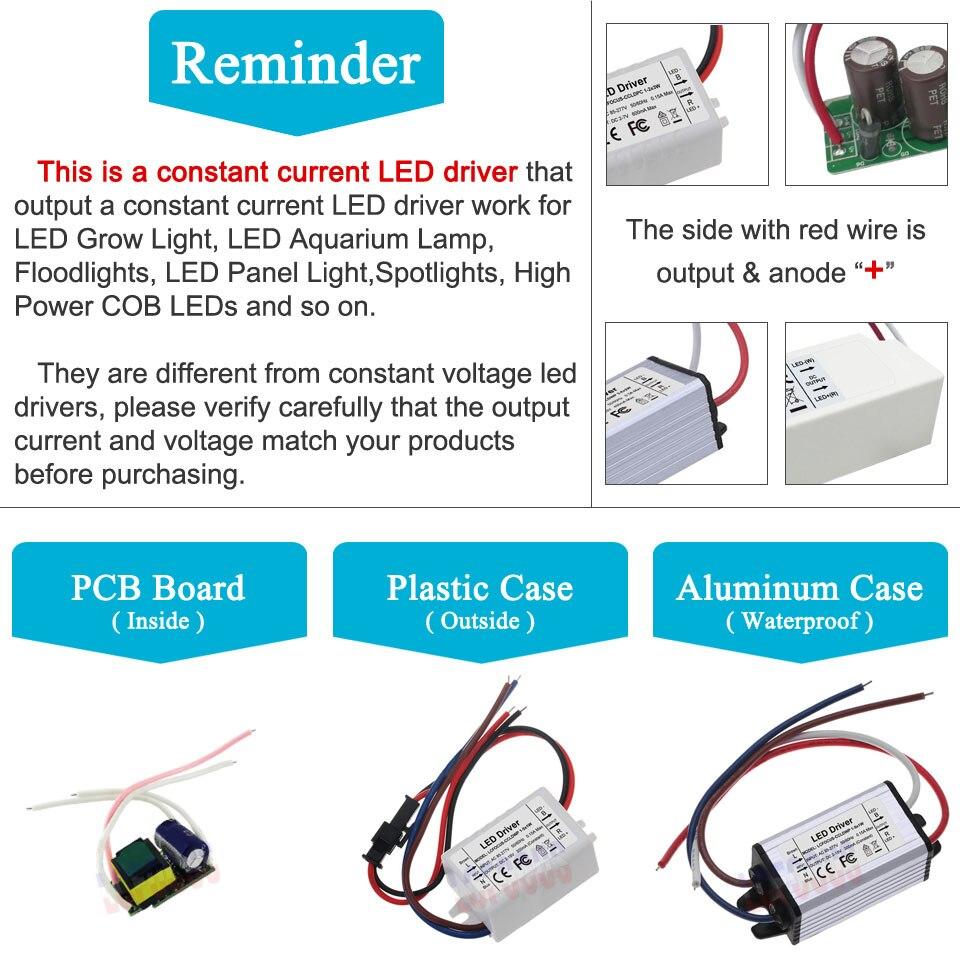 Image 2 - Lighting Transformers 3W 12W 15W 18W 24W 36W 48W 60W 90W 600mA LED Driver 3 Watt LED for DIY Lamp Power Supply-in Lighting Transformers from Lights & Lighting
