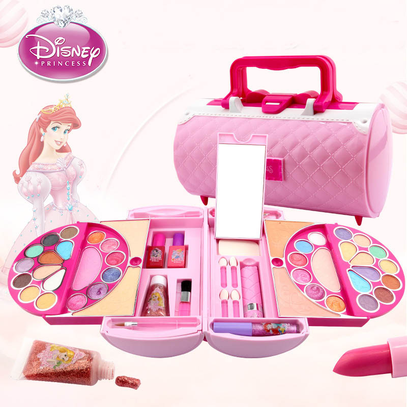 Disney Pretend Play Beauty Fashion Toys Children's Cosmetics Princess Makeup Set Girl Toys Portable Makeup Bag Birthday Gift