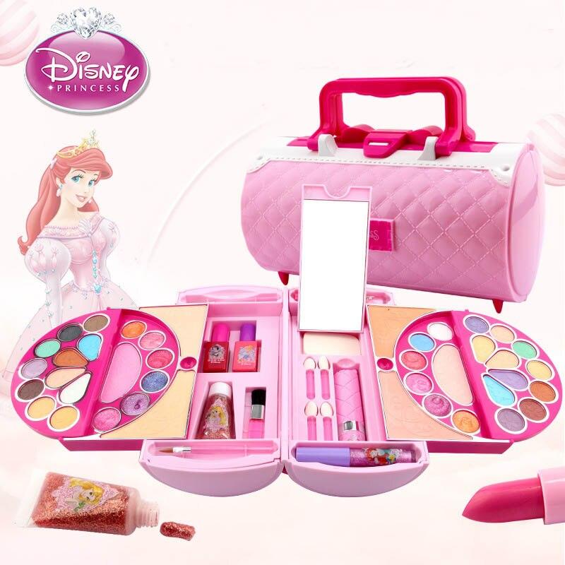 disney fingir jogar beleza moda brinquedos criancas cosmeticos princesa maquiagem conjunto menina brinquedos portatil saco de