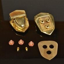 high quality solid brass leather craft bag suitcase buckle DIY luxury handbag lock with screws