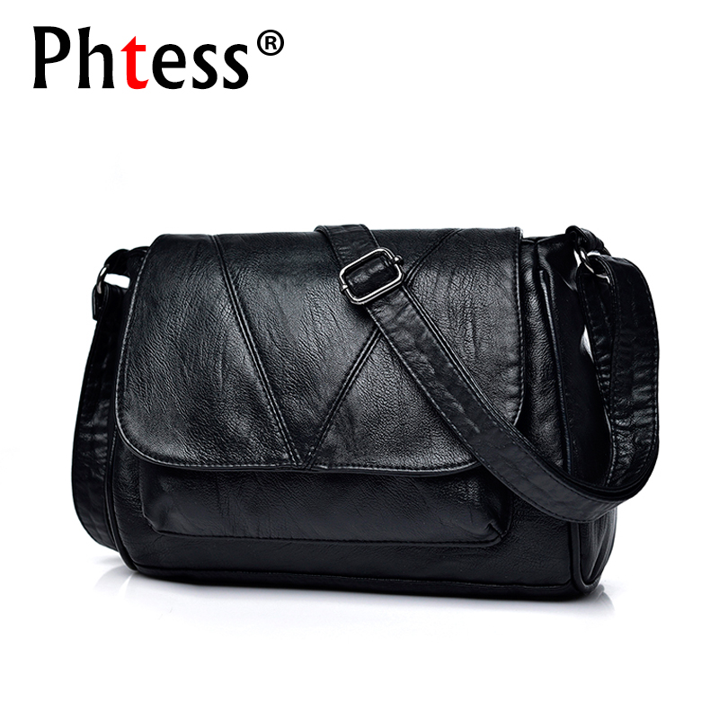 2018 Women Messenger Bags Crossbody Soft Leather Shoulder Female Bag Flap Bolsa Feminina Designer Handbags High Quality Brand