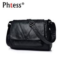 2018 Women Messenger Bags Crossbody Soft Leather Shoulder Female Bag Flap Bolsa Feminina Designer Handbags High