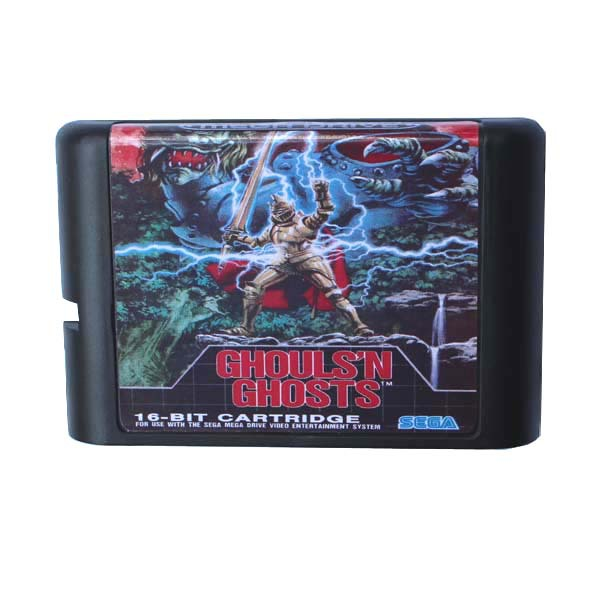 Sega MD game card - Ghouls N Ghosts for 16 bit Sega MD game Cartridge Megadrive Genesis system image