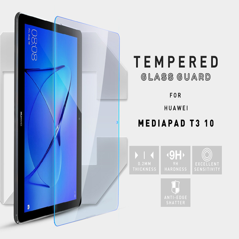 9H Tempered Glass For Huawei Media Pad T3 10 Screen Protector Tablet 9.7 Tempered Glass Tablet Screen Protectors Film 2.5D tempered glass original for alldocube m5 glass screen protector film slim transparent