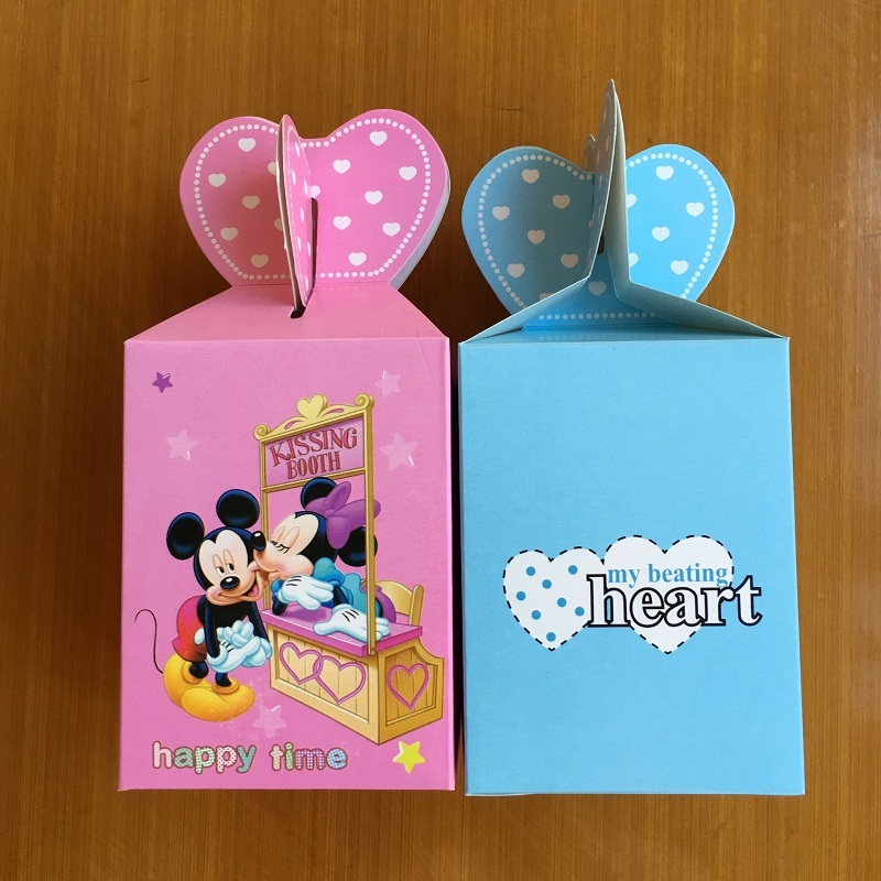 50pcs Wedding Favor Boxes Minniemickey Candy Box For Kids Baby