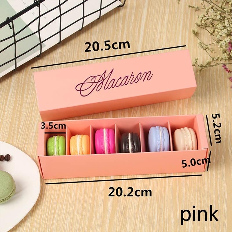Макаронная упаковка, коробка, красиво упакованная, для свадебной вечеринки, для хранения торта, бумажная коробка для печенья, украшения торта, Аксессуары для выпечки - Цвет: Розовый