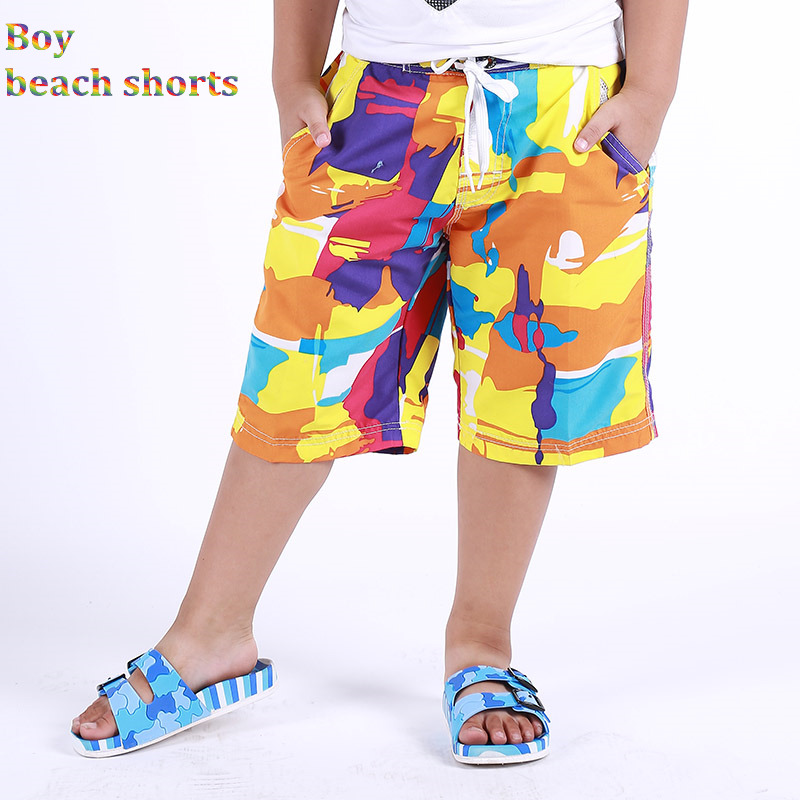 New Boys Beach   Shorts   Surf   Short   Kids Swim Trunks Child Swimwear Camo Pattern Kids Sports Wear 6-15Y   Board     Shorts   1401