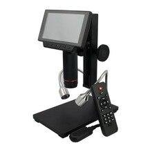 ADSM302 цифровой ЖК HDMI микроскоп 3MP видео запись лупа для Набор для ремонта плат с ИК-пультом дистанционного управления США/ЕС/AU Plug