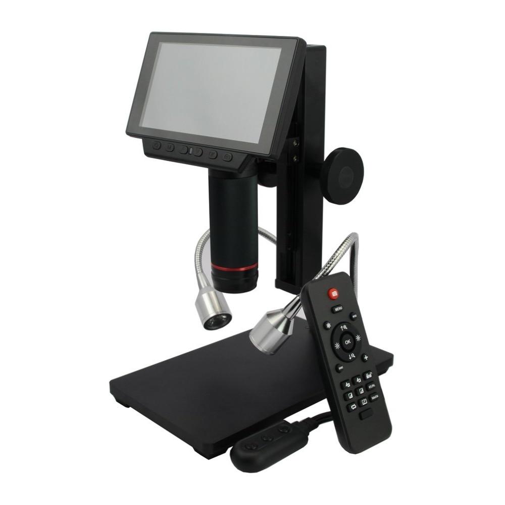 ADSM302 Digital LCD HDMI microscopio 3MP Video grabación lupa para reparación de PCB con control remoto IR enchufe de EE. UU./UE/AU